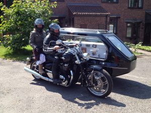 hearse and side car