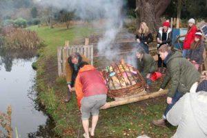 Making the fiery coffin